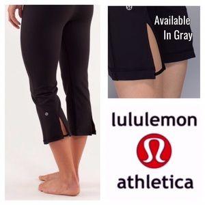 Lululemon Gather and Crow Gray Crop Pant